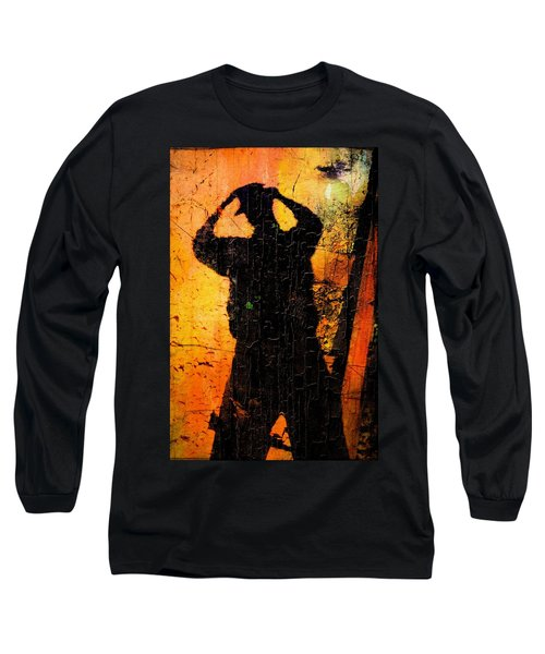 Long Sleeve T-Shirt featuring the mixed media Indiana  by Aaron Berg