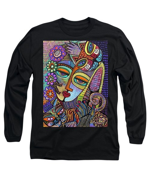 Indigo Tapastry Royal Cats Long Sleeve T-Shirt
