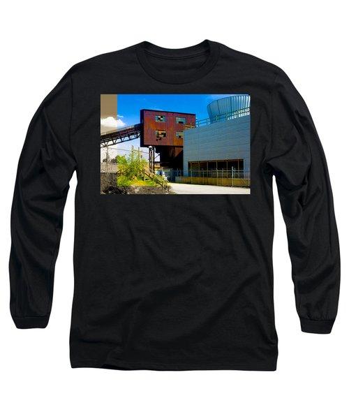 Industrial Power Plant Architectural Landscape Long Sleeve T-Shirt