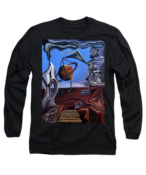 Long Sleeve T-Shirt featuring the painting Infatuasilaphrene by Ryan Demaree