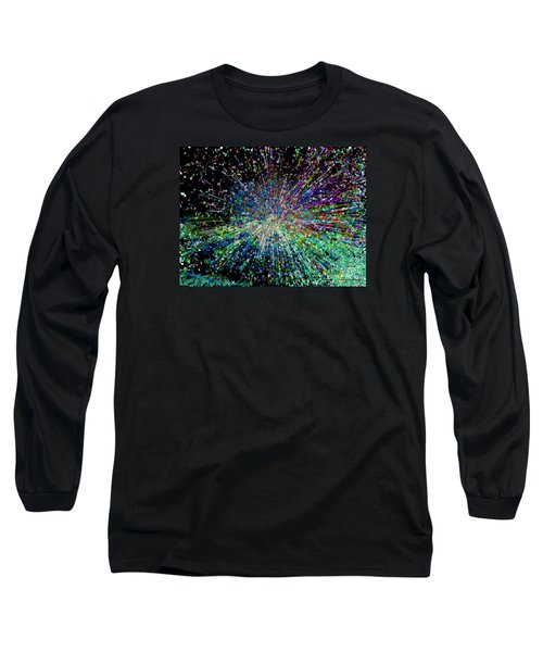 Long Sleeve T-Shirt featuring the digital art Information Explosion by Mariarosa Rockefeller