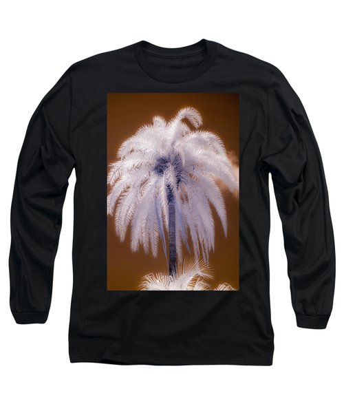 Infrared Palm Tree Long Sleeve T-Shirt
