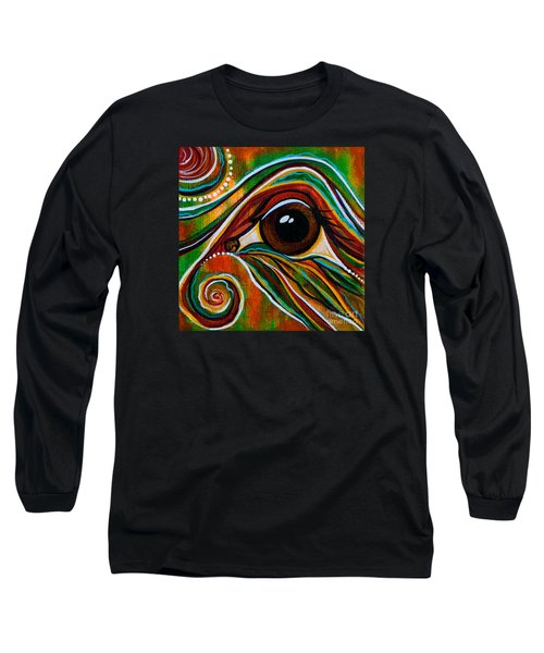 Long Sleeve T-Shirt featuring the painting Inner Strength Spirit Eye by Deborha Kerr