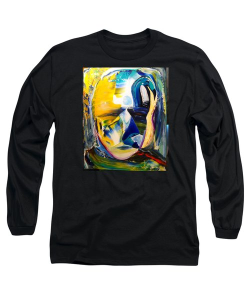 Long Sleeve T-Shirt featuring the painting Insightful To The Center by Kicking Bear  Productions