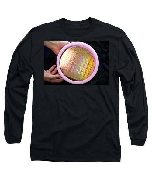 Long Sleeve T-Shirt featuring the photograph Integrated Circuits On Silicon Wafer by Science Source