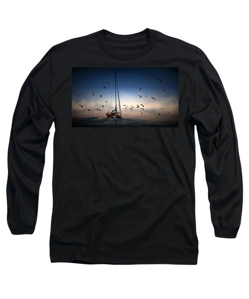 Into The Blue Long Sleeve T-Shirt by Davandra Cribbie