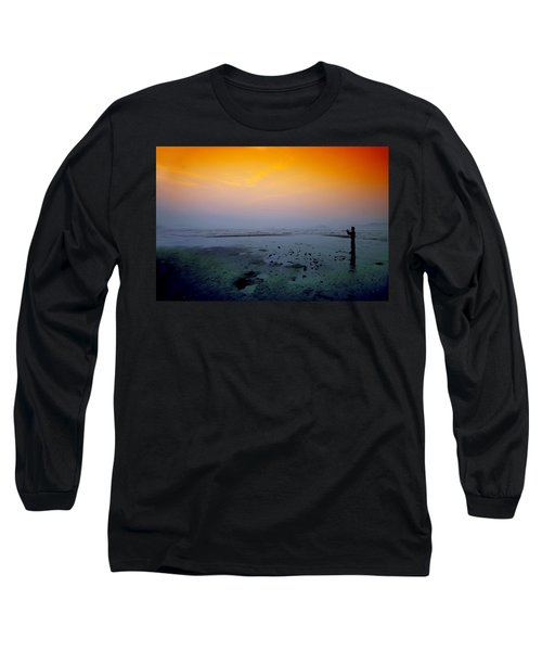 Into The Blue Long Sleeve T-Shirt by Midori Chan
