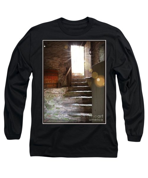 Long Sleeve T-Shirt featuring the photograph Into The Light - The Ephrata Cloisters by Joseph J Stevens