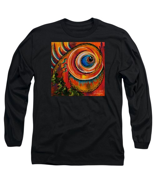 Long Sleeve T-Shirt featuring the painting Intuitive Spirit Eye by Deborha Kerr