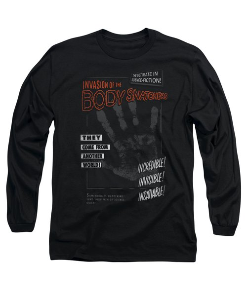 Invasion Of The Body Snatcher - Run Poster Long Sleeve T-Shirt