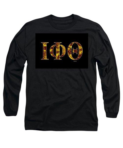 Iota Phi Theta - Black Long Sleeve T-Shirt by Stephen Younts