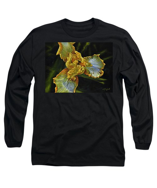 Long Sleeve T-Shirt featuring the painting Iris by Craig T Burgwardt