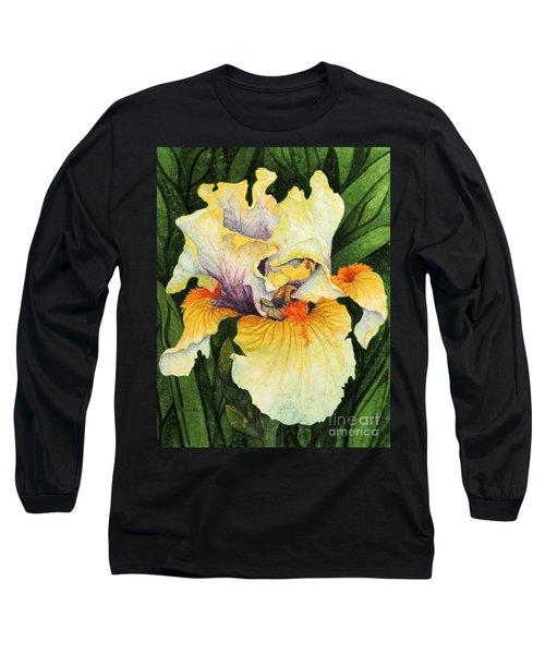 Iris Elegance Long Sleeve T-Shirt by Barbara Jewell