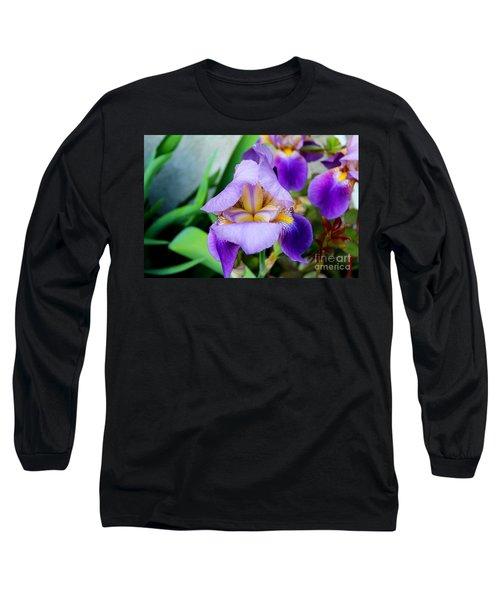 Iris From The Garden Long Sleeve T-Shirt