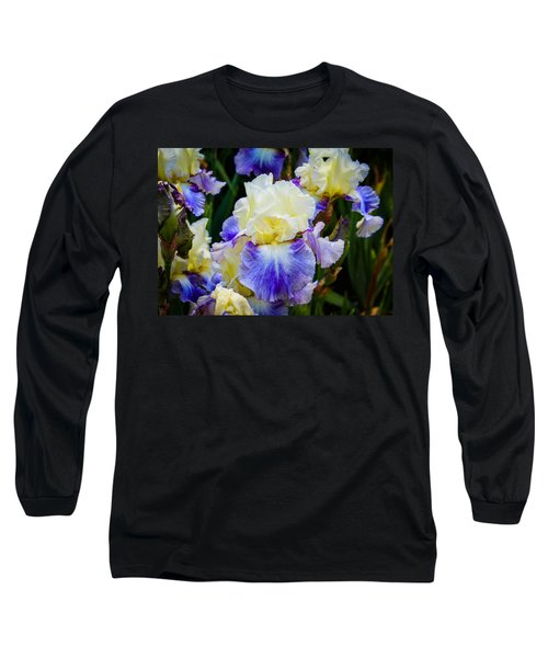 Long Sleeve T-Shirt featuring the photograph Iris In Blue And Yellow by Patricia Babbitt