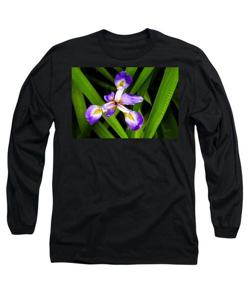 Iris Pinwheel Long Sleeve T-Shirt