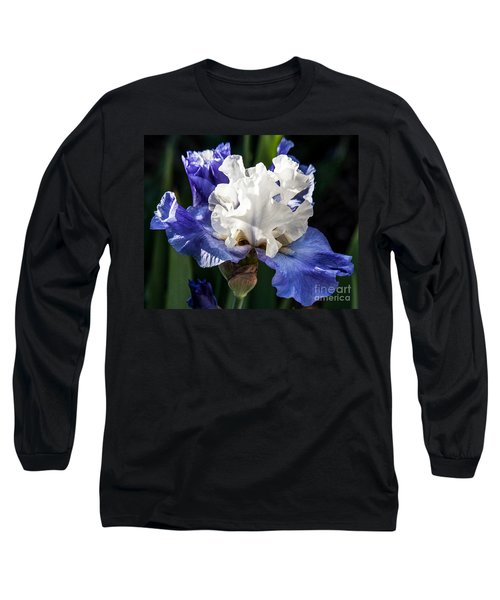 Long Sleeve T-Shirt featuring the photograph Stairway To Heaven Iris by Roselynne Broussard