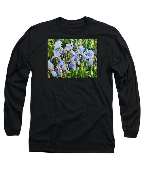 Irises Long Sleeve T-Shirt by Dragica  Micki Fortuna
