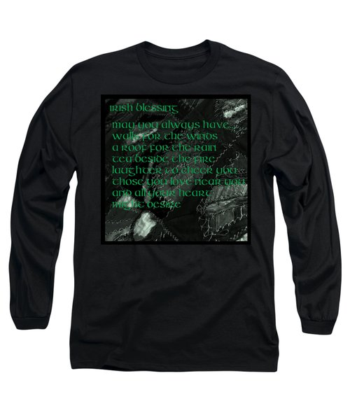 Irish Blessing Stitched In Time Long Sleeve T-Shirt
