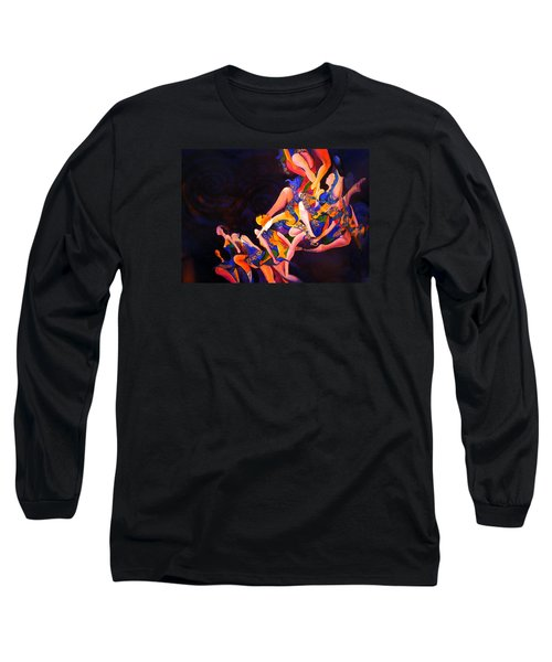 Long Sleeve T-Shirt featuring the painting Irish Knot by Georg Douglas
