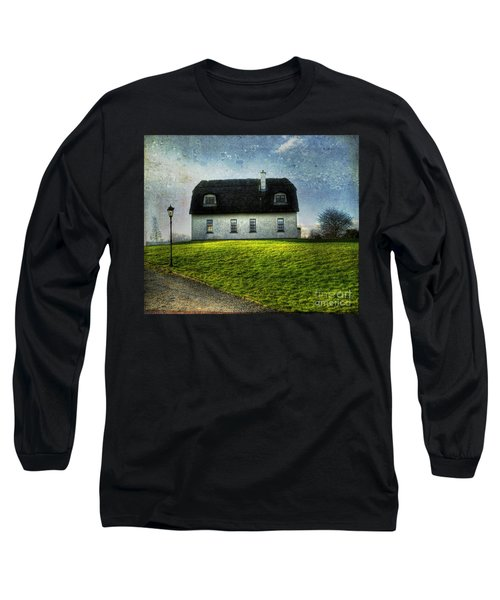 Irish Thatched Roofed Home Long Sleeve T-Shirt by Juli Scalzi