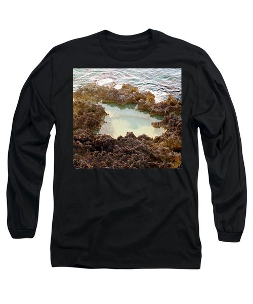 Long Sleeve T-Shirt featuring the photograph Ironshore Tidewater Pool by Amar Sheow