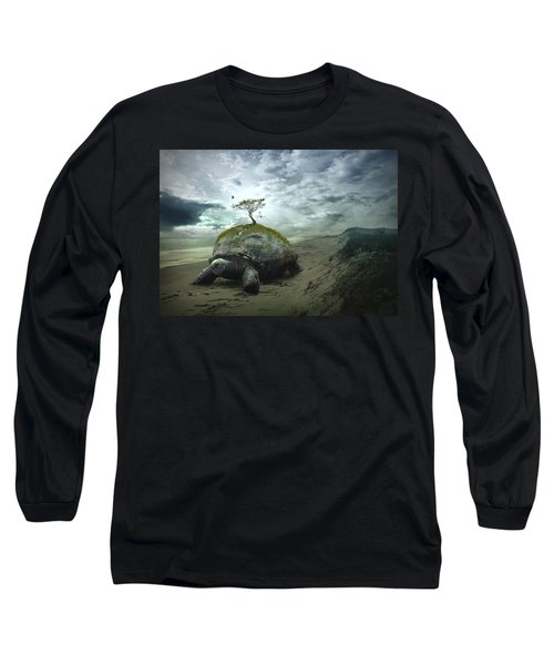 Iroquois Creation Story Long Sleeve T-Shirt by Rick Mosher