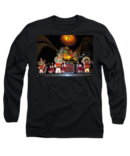 It's A Small World With Dancing Mexican Character Long Sleeve T-Shirt by Lingfai Leung