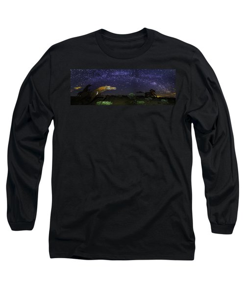 Its Made Of Stars Long Sleeve T-Shirt by James Heckt