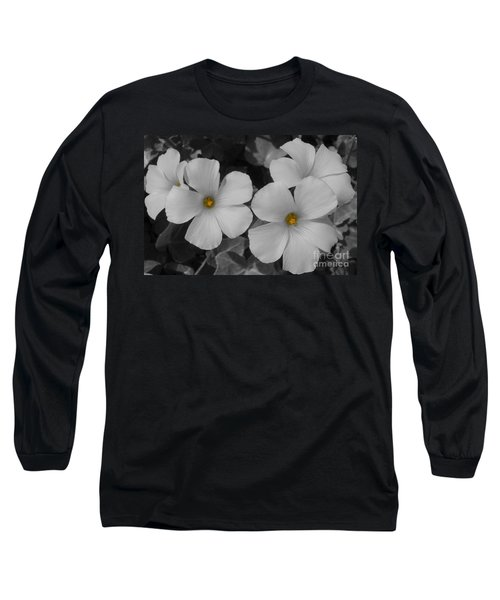 Its Not All Black And White Long Sleeve T-Shirt by Janice Westerberg