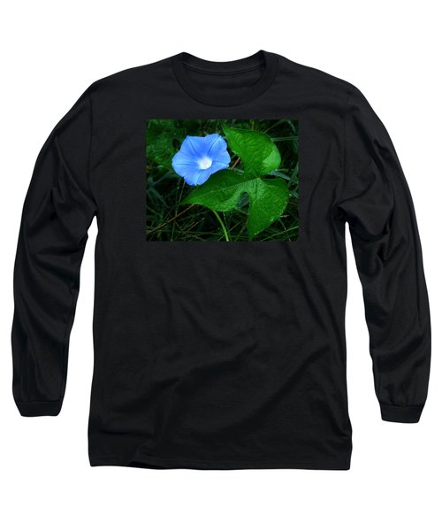 Wild Ivyleaf Morning Glory Long Sleeve T-Shirt by William Tanneberger