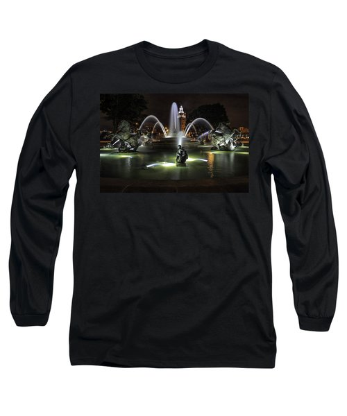 J C Nichols Fountain Long Sleeve T-Shirt by Lynn Sprowl