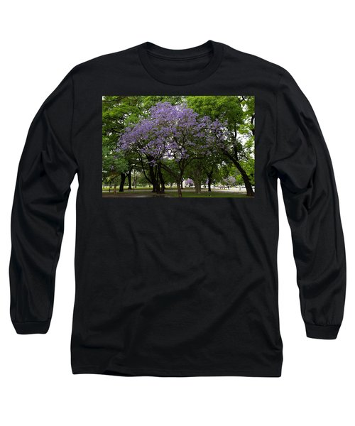 Jacaranda In The Park Long Sleeve T-Shirt