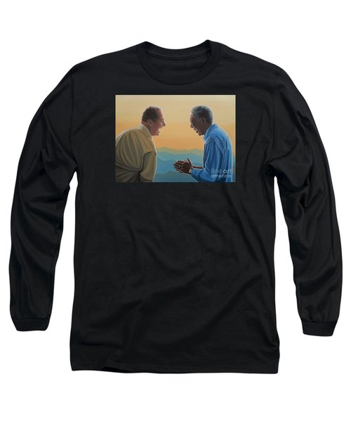 Jack Nicholson And Morgan Freeman Long Sleeve T-Shirt by Paul Meijering
