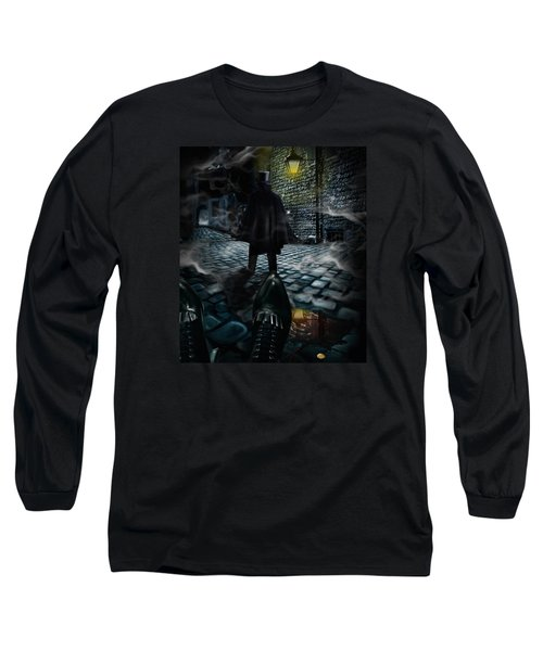 Jack The Ripper Long Sleeve T-Shirt by Alessandro Della Pietra