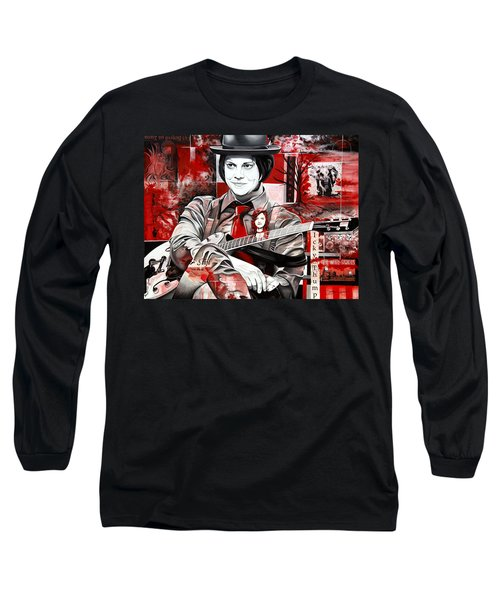 Long Sleeve T-Shirt featuring the painting Jack White by Joshua Morton