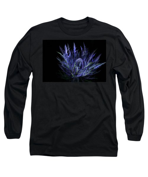 Jackpot Blue Thistle Long Sleeve T-Shirt