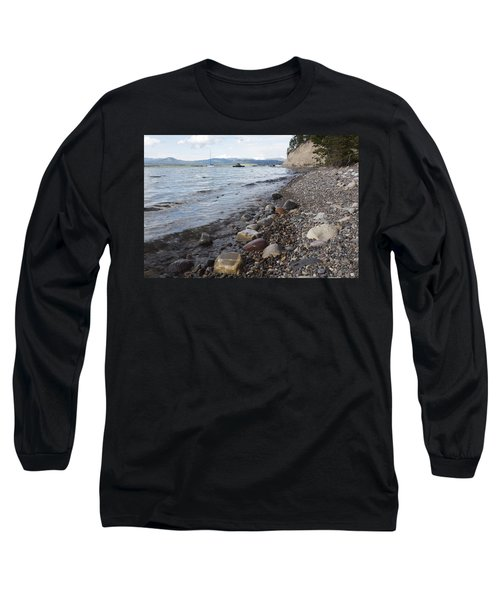 Long Sleeve T-Shirt featuring the photograph Jackson Lake With Boats by Belinda Greb