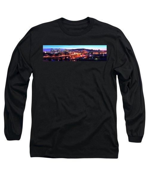 Jacques Cartier Bridge With City Lit Long Sleeve T-Shirt