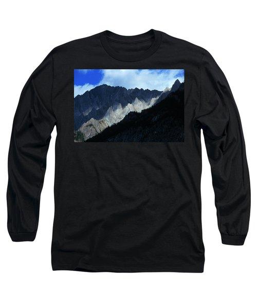 Jagged Mountains Of Banff National Long Sleeve T-Shirt