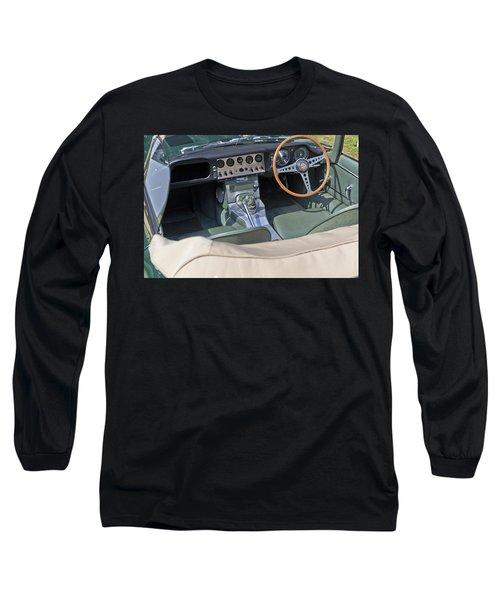 Jaguar E-type Series 1 Long Sleeve T-Shirt by Maj Seda