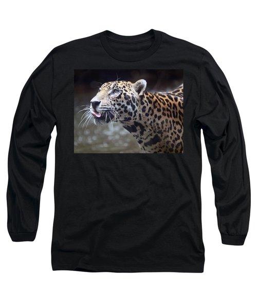 Jaguar Sticking Out Tongue Long Sleeve T-Shirt