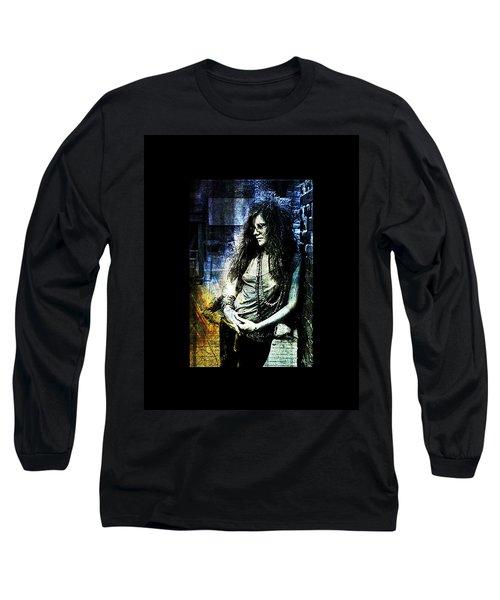 Janis Joplin - Blue Long Sleeve T-Shirt