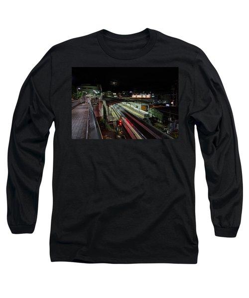 Japan Train Night Long Sleeve T-Shirt