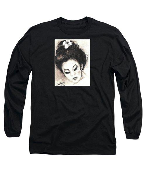 Japanese Girl. Long Sleeve T-Shirt by Francine Heykoop