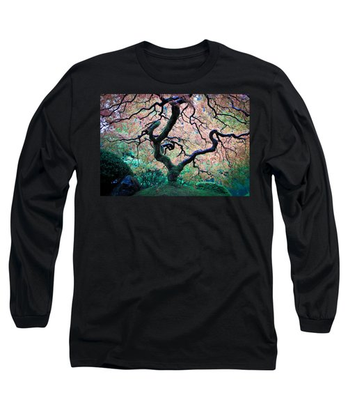 Japanese Maple In Autumn Long Sleeve T-Shirt by Athena Mckinzie