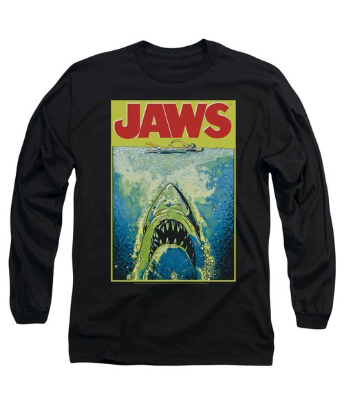 Jaws - Bright Jaws Long Sleeve T-Shirt by Brand A
