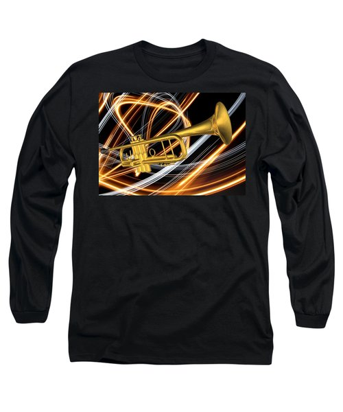 Jazz Art Trumpet Long Sleeve T-Shirt