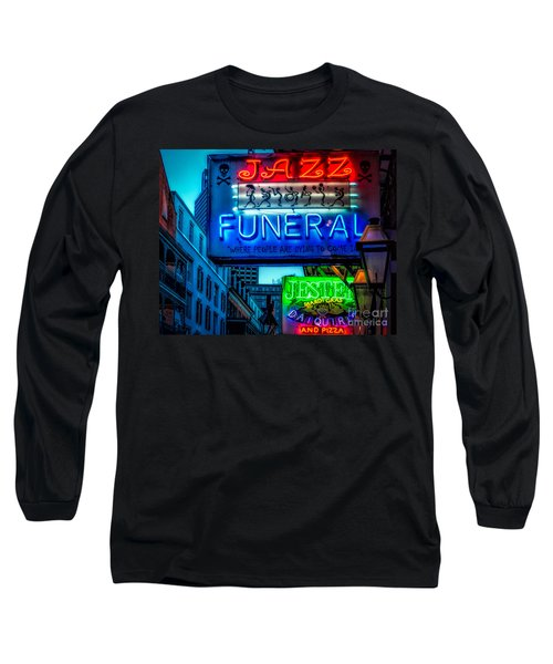 Jazz Funeral And Jester On Bourbon St. Long Sleeve T-Shirt