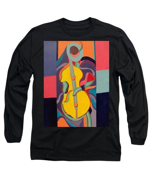 Jazzamatazz Cello Long Sleeve T-Shirt by Angelo Thomas